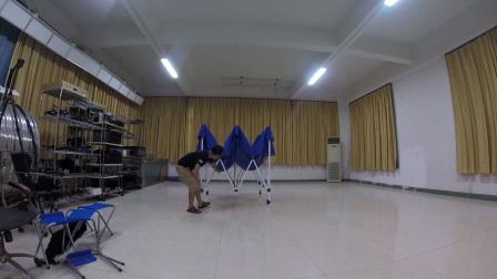 单人搭收帐篷方法-DTS穿越机体验活动道具布置培训资料