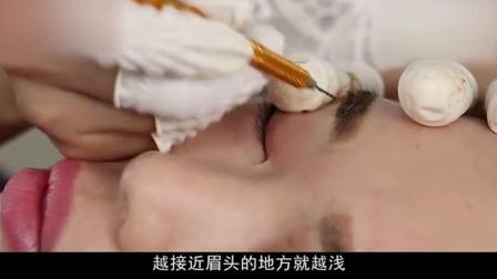 纹绣教学视频手工笔韩式半永久纹眉绣眉视频教程1半永久眉眼唇实操