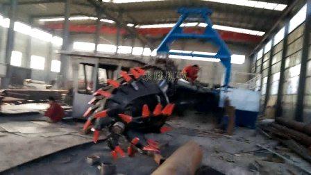 浅海绞式清淤船焊接过程