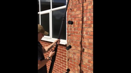 Swimmers pole, wire ladder and F hook