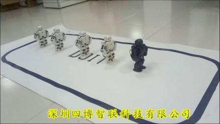 四博智联ViVi机器人组网表演四