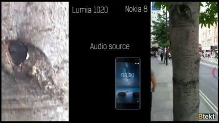 诺基亚8与诺基亚1020相机对比