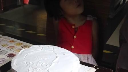 蛋糕图案画妈妈