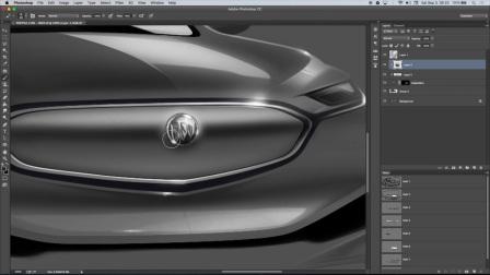 Photoshop手绘渲染别克汽车效果图视频教程