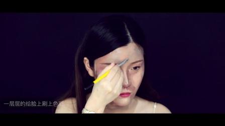 #吴琼琼的彩妆教室#这到底是画的人还是人的画?