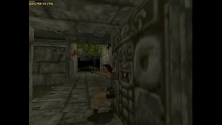 古墓丽影(Tomb Raider)对比 3dfx VS PowerVR