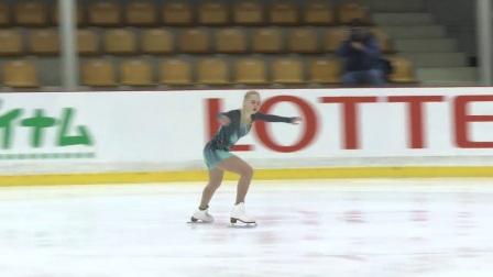 2017年花滑少年大奖赛拉脱维亚站 - 女单短节目第一名-Daria PANENKOVA RUS