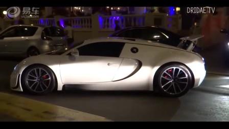 世界最贵跑车4千万的布加迪威龙前面的保险杠刮擦了