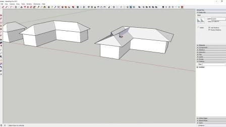 SketchUp创建9种不同的屋顶