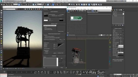 V-Ray for 3ds Max –快速入门 - 太阳与天空, 中文字幕