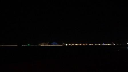 厦大白城沙滩夜景