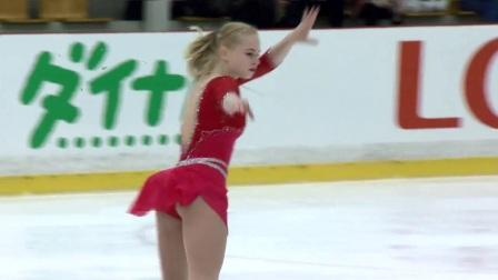 2017年花滑少年大奖赛拉脱维亚站 - 女单自由滑第二名-Daria PANENKOVA RUS