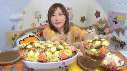 【木下大胃王】咖喱饭15盒! 加上鸡蛋番茄烤奶酪等@柚子木字幕组