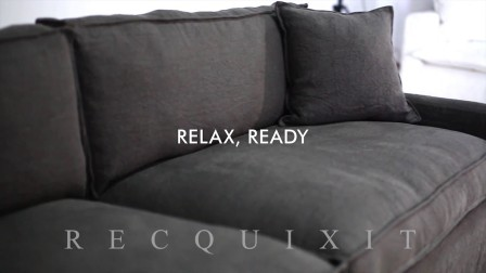 家具展示:产品视频 Furniture Showcase Charcoal Sofa by Recquixit 录可喜