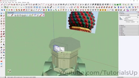 Saint Basil's Cathedral Onion Domes Modeling in SketchUp Part 5 of 9