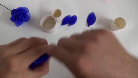 丝网花玫瑰花制作 外星客花艺,丝网丝袜制作 DIY手工