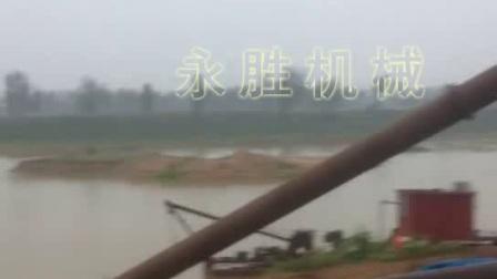 铰刀式抽沙船在河南开始施工了