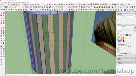 Saint Basil's Cathedral Onion Domes Modeling in SketchUp Part 6 of 9