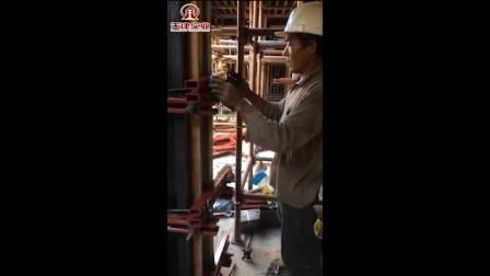 昌黎天建新型剪力墙模板加固(河南六建项目)技术专员现场指导加固剪力墙