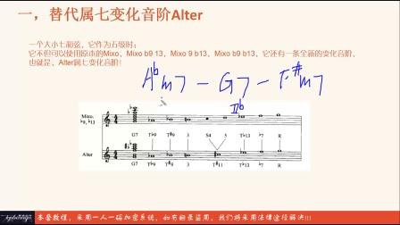 《流行爵士高级和声编曲教程》第四章第六课 替代属七变化音阶 Alter