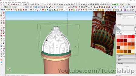 Saint Basil's Cathedral Onion Domes Modeling in SketchUp Part 8 of 9