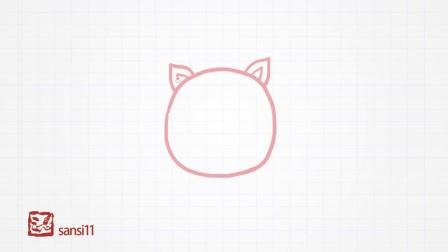 简单易学的儿童简笔画-小猪