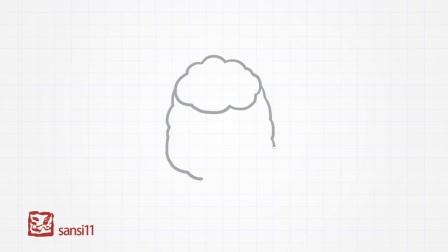 简单易学的儿童简笔画-羊驼