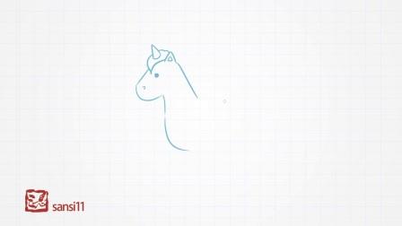 简单易学的儿童简笔画-独角兽