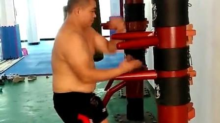 岭南派咏春拳木人桩表演——冯小天