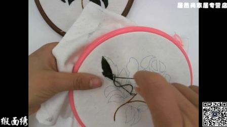 居然尚家居专营店欧式刺绣DIY针法教程红玫瑰红玫瑰