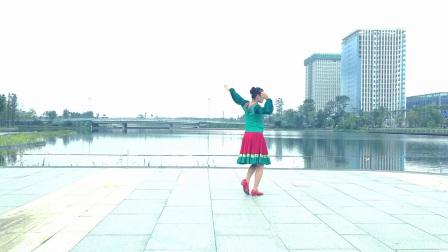兰琳广场舞《博尔塔拉我可爱的家乡》~正反面~