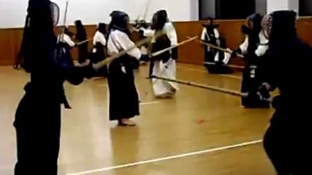 羽贺派战前剑道训练