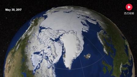 2017年3月27日至9月13日,北极海冰的变化
