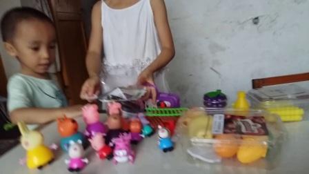 小猪佩奇玩具 33:超级飞侠粉红猪小妹超市购物 玩具冰淇淋果冻布丁 亲子游戏 培乐多冰淇淋玩具 水果切切乐仿真收银机过家家的玩具故事 亲子过家家厨房玩具