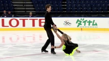 2017年花滑少年大奖白俄罗斯站 - 冰舞短舞第三名 -Arina USHAKOVA / Maxim NEKRASOV RUS