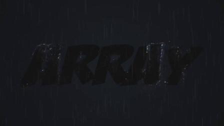 水和标志展示,下雨打雷闪电的特效,可以是标志也可以是文字