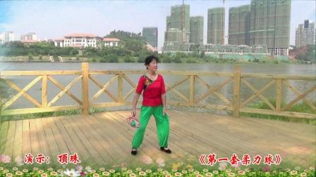 赣州冶机厂铸钢广场舞队《第一套柔力球》演示:顶珠