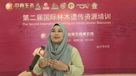 国际林木遗传资源培训马来西亚国家代表Nur Kyariatul