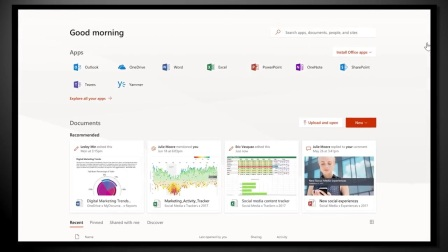 New personalized experiences on the web with Office.com