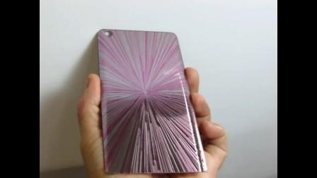 3D玻璃背蓋 金屬拉絲質感噴印
