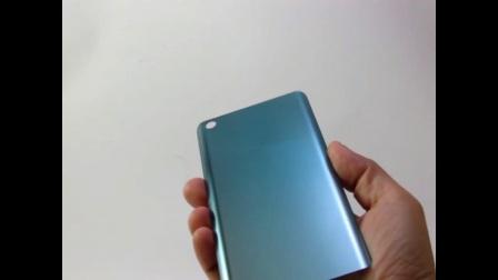 3D玻璃背蓋 藍色金屬質感噴印