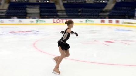 2017年花滑少年大奖白俄罗斯站 - 女单短节目第一名 Alexandra TRUSOVA RUS