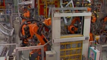 库卡机器人汽车焊接装配生产线视频
