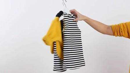 女童2017冬款蜜蜂连帽卫衣条纹背心裙套装冬季新品一1-2-3岁潮