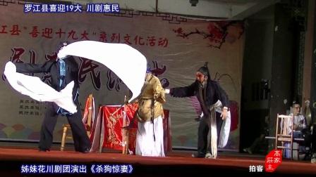 川剧殚戏 狗惊妻 姊妹花演出 罗江县喜迎