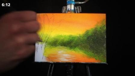 手绘丙烯画风景画快速绘画教程 L_07