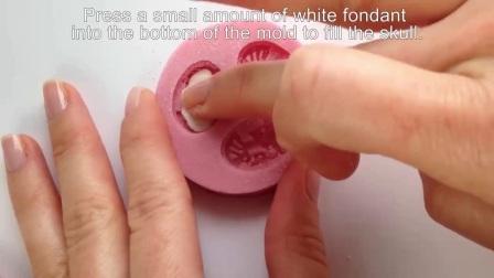 黑猫家~翻糖硅胶模具的使用 干佩斯造型示例