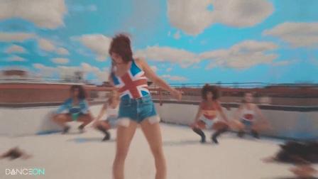 【性感高跟热舞】12个国家妹子穿国旗超强Jazz齐舞Mi Gente