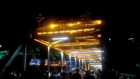 兰州黄河铁桥夜景