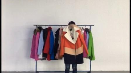 平辉贸易冬季朗曼笛品牌羊毛呢子大衣低价批发走份